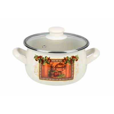 Кастрюля Ardesto AR0320 Italian Gourmet, стеклянная крышка, 2 л, айвори