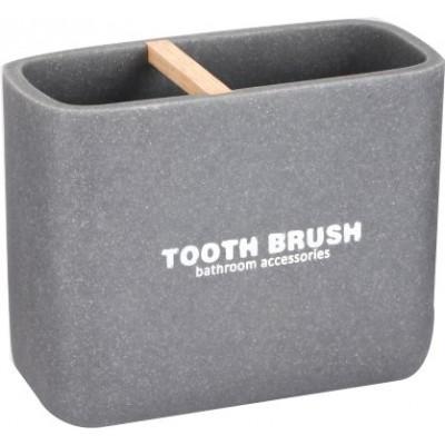 Стакан для зубных щеток Bisk 07783 DAKAR СЕРЫЙ