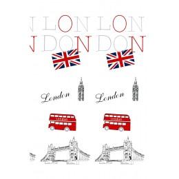 Штора для ванной BISK 06870 TXT LONDON MULTI (с набором колец)