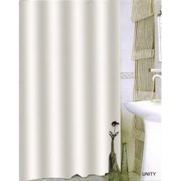 Штора для ванной BISK 08702 TXT UNITY белая