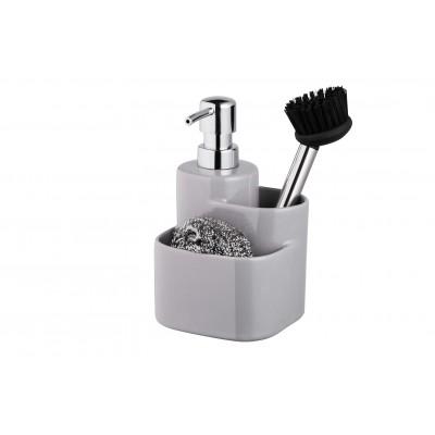 Набор дозатор 3 в 1 BISK 07675 серый