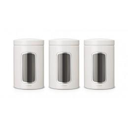 Набор емкостей Brabantia 151224 для хранения сыпучих продуктов с окном 3 предмета, 1,4 л