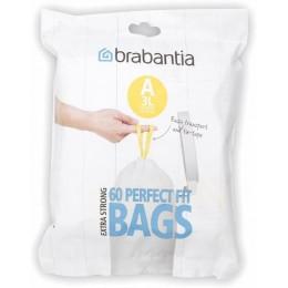 """Пакеты для мусора 3л Brabantia 348983 """"А"""", 60 шт"""