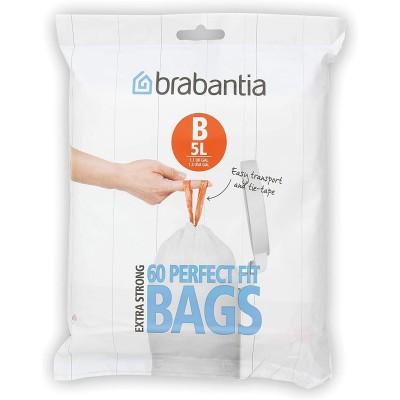 """Пакеты для мусора, 5л, """"В"""", 60 шт Brabantia 348969"""
