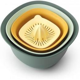 Кухонный набор: миски 1,5 и 3,2 л, дуршлаг 2,4 л, соковыжималка, мерный стакан 0,5 л Brabantia 122262 Tasty