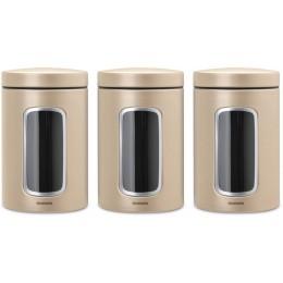Набор емкостей для хранения 1,4 л, 3 шт Brabantia 304842 Шампань