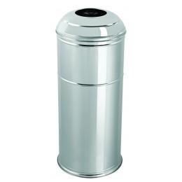 Корзина для мусора большая EFOR METAL 446BM нержавеющая сталь матовая 45 л