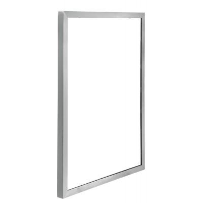 Зеркало EFOR METAL 516 в стальной матовой окантовке 70*50 см