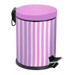 Набор для ванной EFOR METAL 971 металл розовый (корзина 5л + щётка микро)