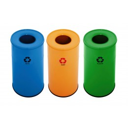 Корзины для сортировки мусора EFOR METAL 1321 металлические 45 л 3 цвета