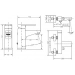Набор смесителей для раковины и ванны GENEBRE Kenjo 1+1 02KE-bath (63130264566+63100264567)