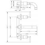 Смеситель для раковины I-16 GENEBRE IXO, скрытый монтаж (68131124566)