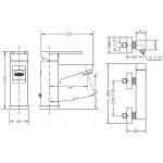 Набор смесителей для раковины и душа GENEBRE Kenjo 1+1 02KE-shower (63130264566+63110264567)