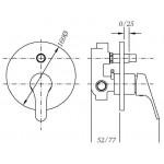 Смеситель для душа GENEBRE Ge2, встраеваемый, с переключателем (61116224566)