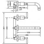 Смеситель для раковины I-22 GENEBRE IXO, скрытый монтаж (68132124566)