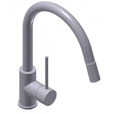 Смеситель для кухонной раковины с выдвижным изливом Tau White (FRV6120740)
