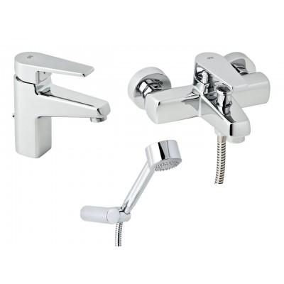 Набор смесителей для ванны без штанги GENEBRE Klip 03KL-bath (64130164566+64100164566)
