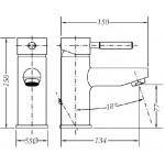 Смеситель для раковины GENEBRE Tau (65135184566)
