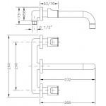 Смеситель для раковины I-22 GENEBRE KALO, скрытый монтаж (68132074566)
