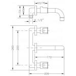 Смеситель для раковины I-16 GENEBRE KALO, скрытый монтаж (68131074566)