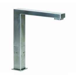 Смеситель для кухни, квадратный GENEBRE INOX, нерж. сталь, двухрежимный (65208186066)