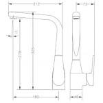 Смеситель для кухонной раковины GENEBRE Klip (64201164566)