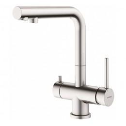 Смеситель для кухонной раковины c подключением к фильтрованной воде GENEBRE INOX-Osmos (65703 18 60 66)