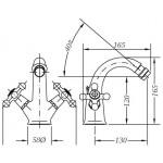 Двухвентильный смеситель для биде GENEBRE NRC (68516094366)