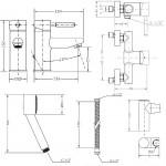 Набор смесителей для душа без штанги GENEBRE Tau 03TA1-shower (65135184566+65110184566)