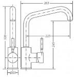 Смеситель для кухонной раковины GENEBRE Tau-204 (65204184566)