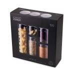 Набор емкостей Joseph Joseph 95035 Podium 100 из 5 стеклянных контейнеров для хранения со стойкой и простым доступом