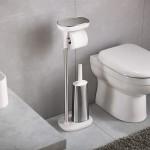 Стойка Joseph Joseph 70519 Flex™ для туалетной бумаги с щеткой для унитаза