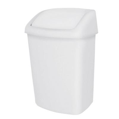 Корзина для мусора на 10 л JVD 8991083 с качающейся крышкой