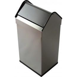 Корзина для мусора напольная JVD 899478 с качающейся крышкой на 40 литров