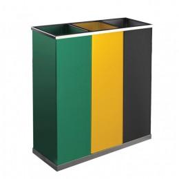 Бак на 75 л для сортировки мусора JVD H4014VAG
