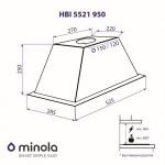 Вытяжка полновстраиваемая Minola HBI 5521 BL 950