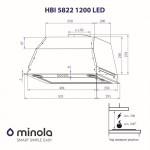 Вытяжка полновстраиваемая Minola HBI 5822 BL 1200 LED