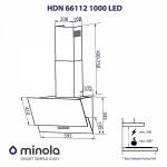 Вытяжка декоративная наклонная Minola HDN 66112 BL 1000 LED