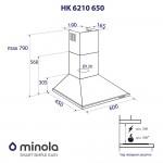 Вытяжка купольная Minola HK 6210 WH 650
