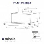 Вытяжка телескопическая Minola HTL 5612 WH 1000 LED