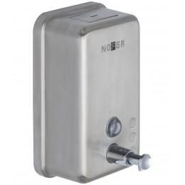 Диспенсер для мыла Nofer 03041.S матовый из нержавеющей стали с пластиком внутри
