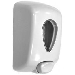 Пластиковый белый диспенсер для жидкого мыла Nofer 03036.W