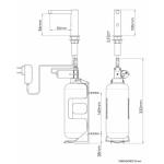Сенсорный дозатор для жидкого мыла Nofer 03106.B