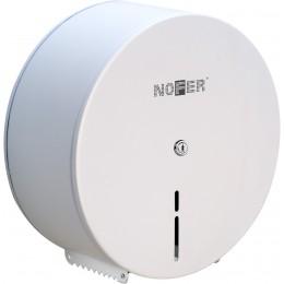 Держатель для туалетной бумаги Nofer 05001.W из стали круглый белый