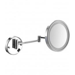 Увеличительное зеркало для ванной NOFER 08006.B Vanity с LED подсветкой и регулировкой