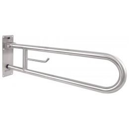 Вертикальный откидной захват Nofer 15051.80.S с держателем для туалетной бумаги