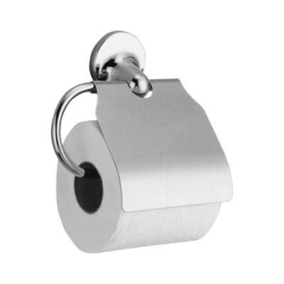 Держатель для туалетной бумаги Nofer Hotel 16417.В горизонтальный с крышкой