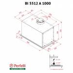 Вытяжка полновстраиваемая Perfelli BI 5512 A 1000 I LED
