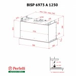 Вытяжка полновстраиваемая Perfelli BISP 6973 A 1250 IV LED Strip