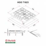 Поверхность газовая на стекле Perfelli HGG 71623 BL